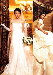 女星婚纱造型媲美,谁是你心中的最美新娘