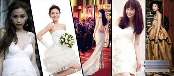 女星婚纱造型媲美 最美新娘