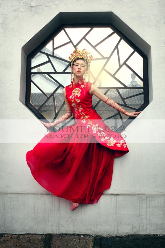 新娘旗袍造型视频_旗袍彩妆造型 唯美复古(2)_妆面赏析_影楼化妆_黑光网