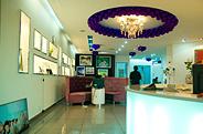 最新影楼资讯新闻-新娘百分百影楼装修设计,紫色点缀的优雅空间