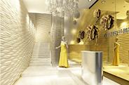 VA韩国婚纱摄影连锁机构,风格高调的圆润装修设计