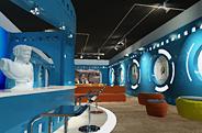 最新影楼资讯新闻-蓝色炫彩律动空间:摄影工作室装修设计效果方案