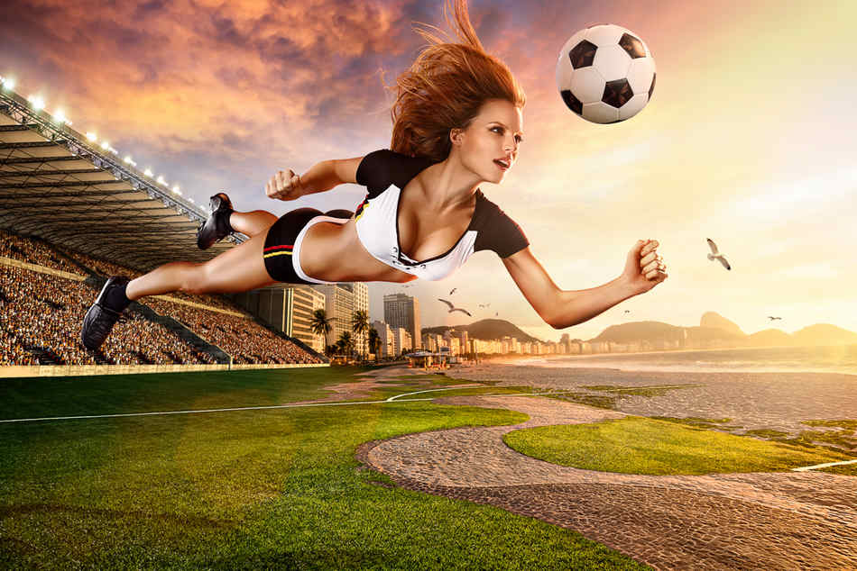 最新影楼资讯新闻-美国商业摄影师拍2014***足球宝贝纪念日历