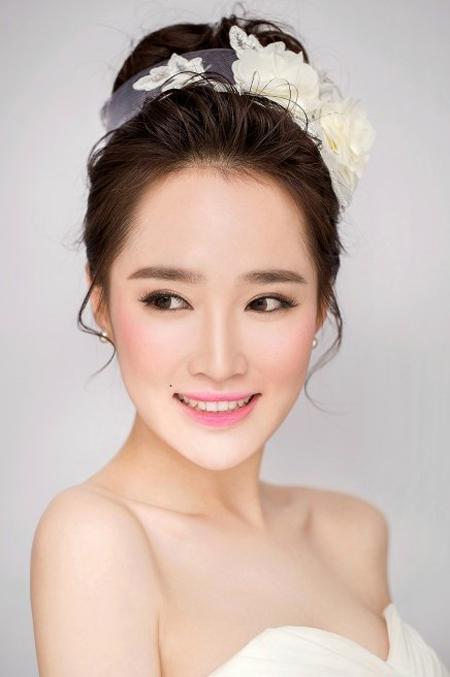 韩式新娘妆图片