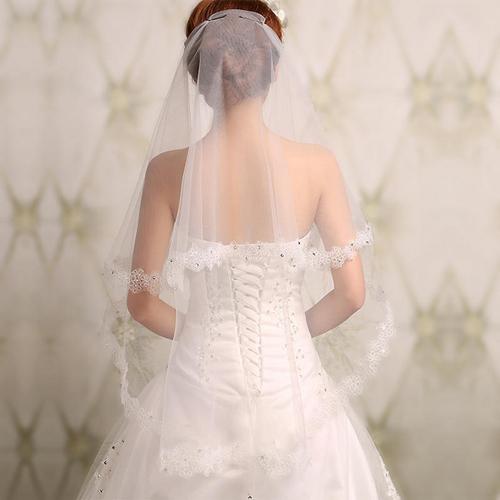 婚纱照头纱造型_刘诗诗同款头纱婚纱照