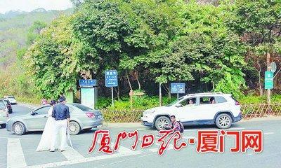 最新影樓資訊新聞-廈門情侶占馬路拍婚紗照 警方提醒不能堵塞交通