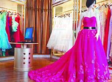 最新影楼资讯新闻-青岛平度定制婚纱成趋势 清新自然风格最流行