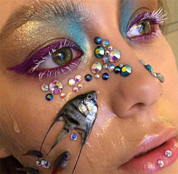 死鱼眼怎么化妆图片