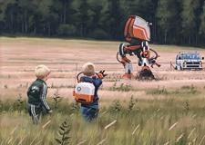 最新影楼资讯新闻-科幻场景插画 未来的瑞典乡村
