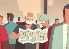 最新影楼资讯新闻-国外温馨的老人生活插画设计欣赏