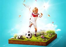 最新影楼资讯新闻-《这就是生活》一组以生活为主题的足球宣传海报