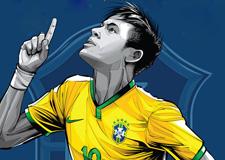 最新影楼资讯新闻-吹响冲锋号:2014巴西***球星海报