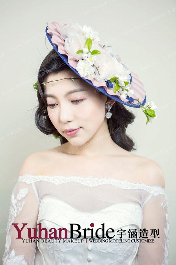 唯美田园帽饰造型 散发淡淡少女感