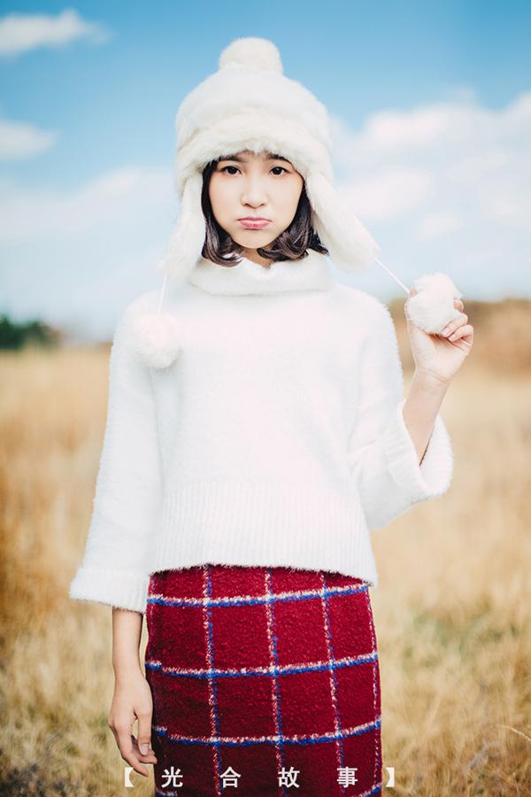 人像摄影欣赏 绽放在冬天的微笑