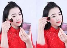 最新影楼资讯新闻-中式新娘妆的画法步骤图解 将美丽发挥到**
