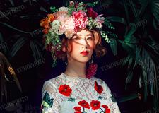 最新影楼资讯新闻-戴上一顶浪漫花冠 森系新娘造型美仙了