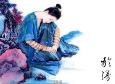 最新影楼资讯新闻-龄漫国风·水墨工笔画后期摄影作品:蓝裳