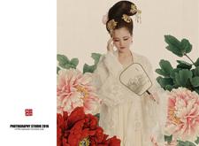 最新影楼资讯新闻-古风工笔画摄影作品:簪花仕女·白牡丹