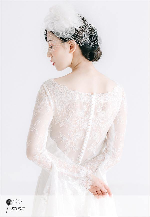 新娘造型欣赏 蕾丝的气息