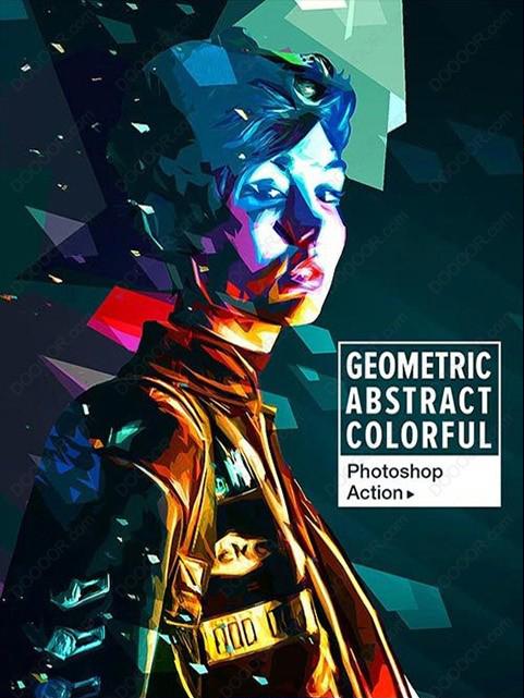 色性艺术_PS***合成照片转彩色几何抽象艺术色块效果_设计欣赏_影楼数码