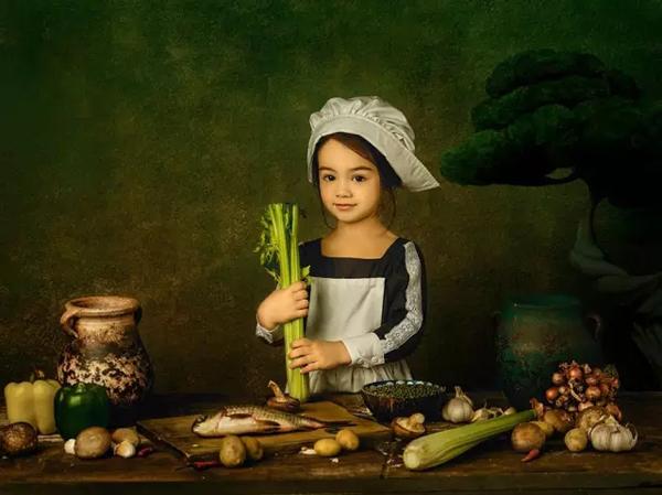 【S989】油画风格儿童摄影灯光与后期教程
