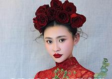 最新影楼资讯新闻-红唇如歌 精致饱满的新娘妆面