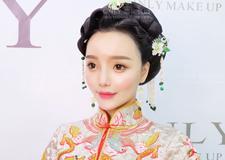 最新影楼资讯新闻-红妆新娘造型 演绎温婉娴熟中国风 