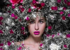 最新影楼资讯新闻-创意化妆造型作品 花艺