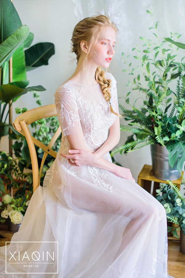 森系新娘眼妆图片图片