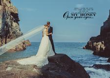 最新影楼资讯新闻-寻找爱情专属的记忆 外模海边婚纱摄影