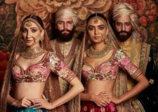 最新影楼资讯新闻-复古风碰撞精致的图案 Tarun Khiwal镜头下的印度时装秀