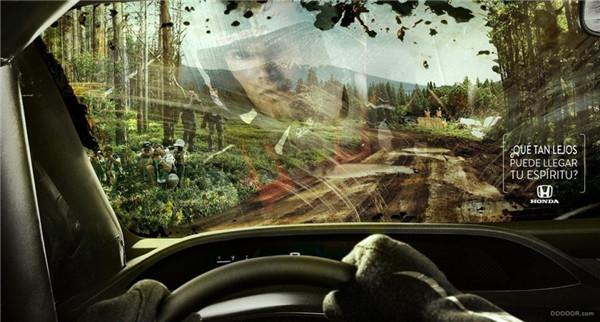 广告设计作品 创意十足的汽车广告 平面设计作品欣赏