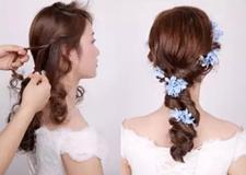 森系甜美三股扎辫教程 做个仙气十足的新娘