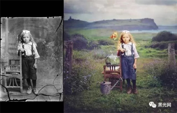 老照片处理 老照片如何修复 这才是PS修复老照片的*高境界!