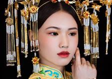 最新影楼资讯新闻-经典奢华的中式新娘造型 满足你的嫁衣情怀