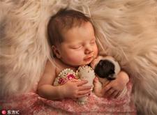 最新影楼资讯新闻-摄影师为婴儿与动物的好友拍写真 暖化人心