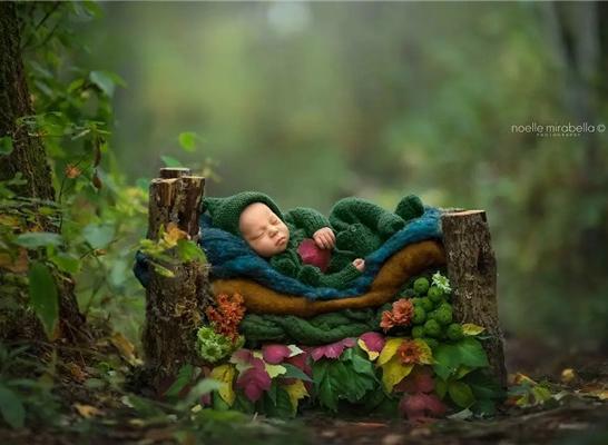 最新影楼资讯新闻-一组意境的苹果主题的婴儿摄影,很美!