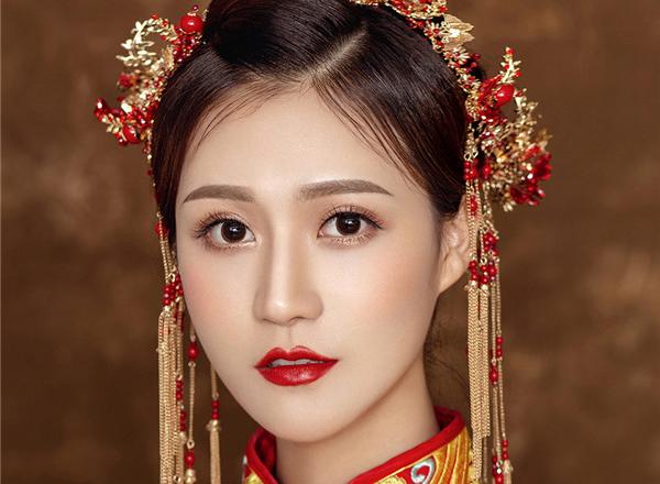 最新影楼资讯新闻-中式新娘妆发赏析