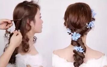 最新影楼资讯新闻-森系甜美三股扎辫教程 做个仙气十足的新娘
