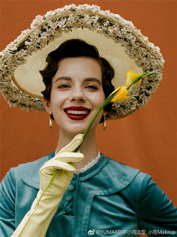 50年代复古海报风妆容欣赏