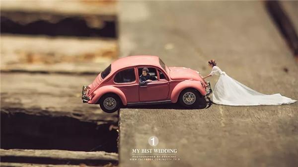 创意婚纱照:带你走进我的微观世界