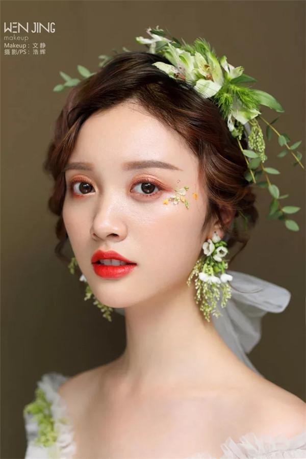 新娘彩妆教程 鲜花新娘低发髻造型视频教程