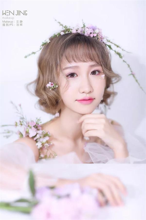 甜美日系短发新娘造型教程