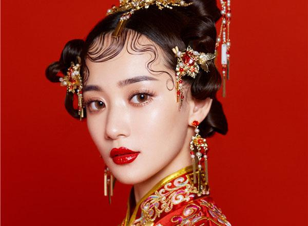 最新影楼资讯新闻-简约中式新娘妆容发型欣赏