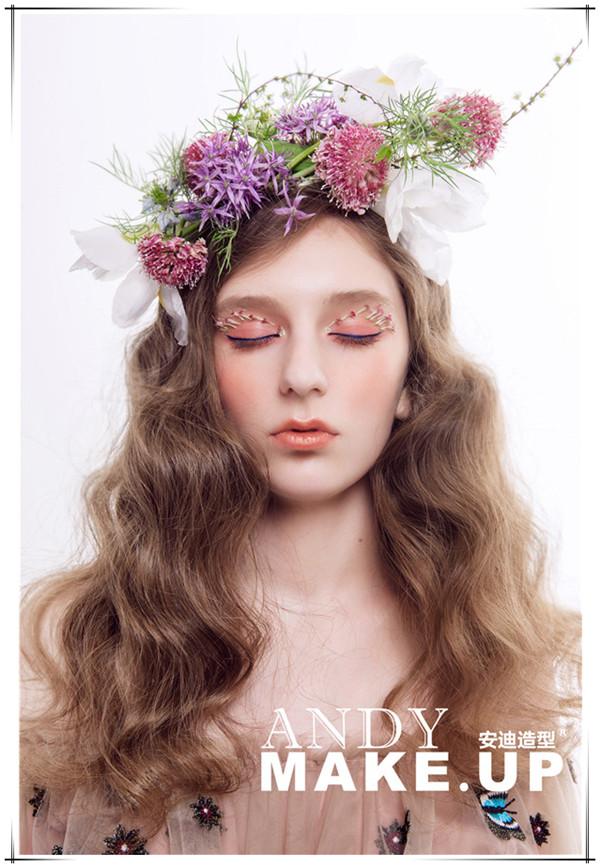 创意鲜花妆面作品欣赏