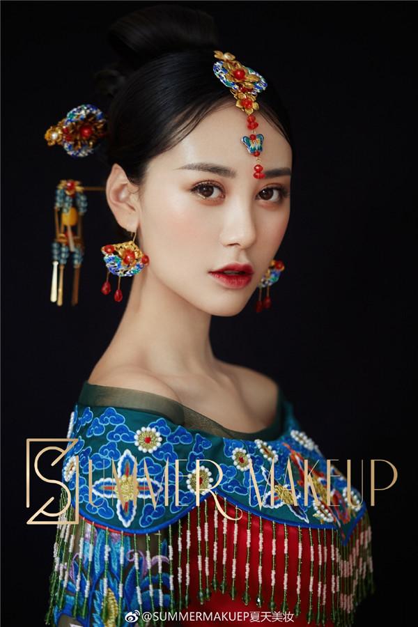 新娘妆造型 中式新娘妆发造型欣赏