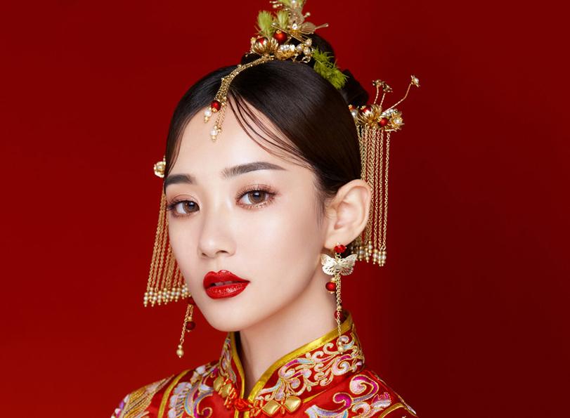 最新影楼资讯新闻-青丝馆正,中式新娘盘发造型