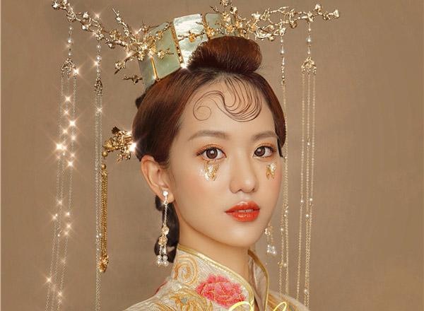 最新影楼资讯新闻-新中式新娘:眉眼诠释温柔如水