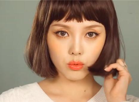 PONY减龄橘色系妆容,揭开韩国女生扮嫩秘诀
