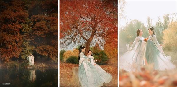 意境深远 枫叶银杏、*适合拍古风人像的季节